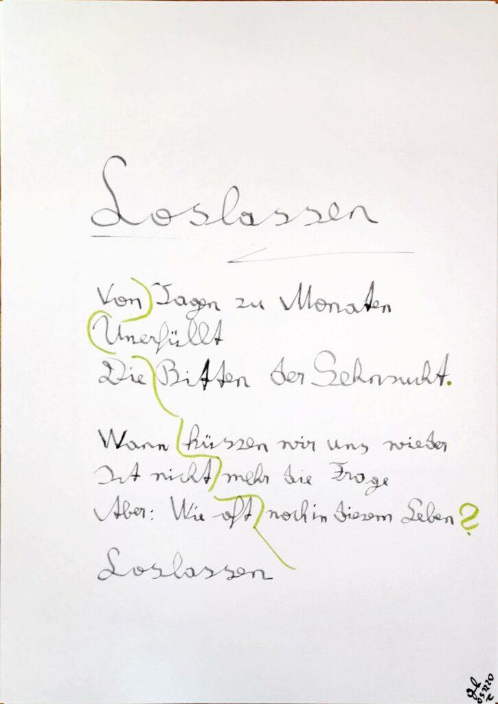 #39Plus3Poems - Loslassen - handschriftlich