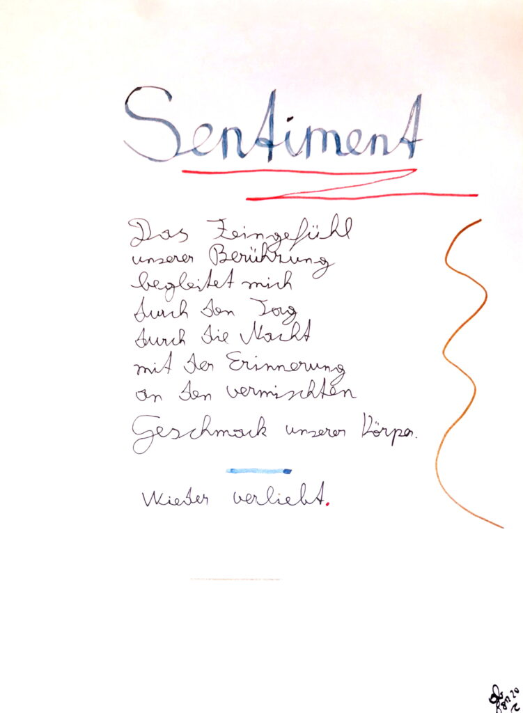 #39Plus3Poems - Sentiment - handschriftlich