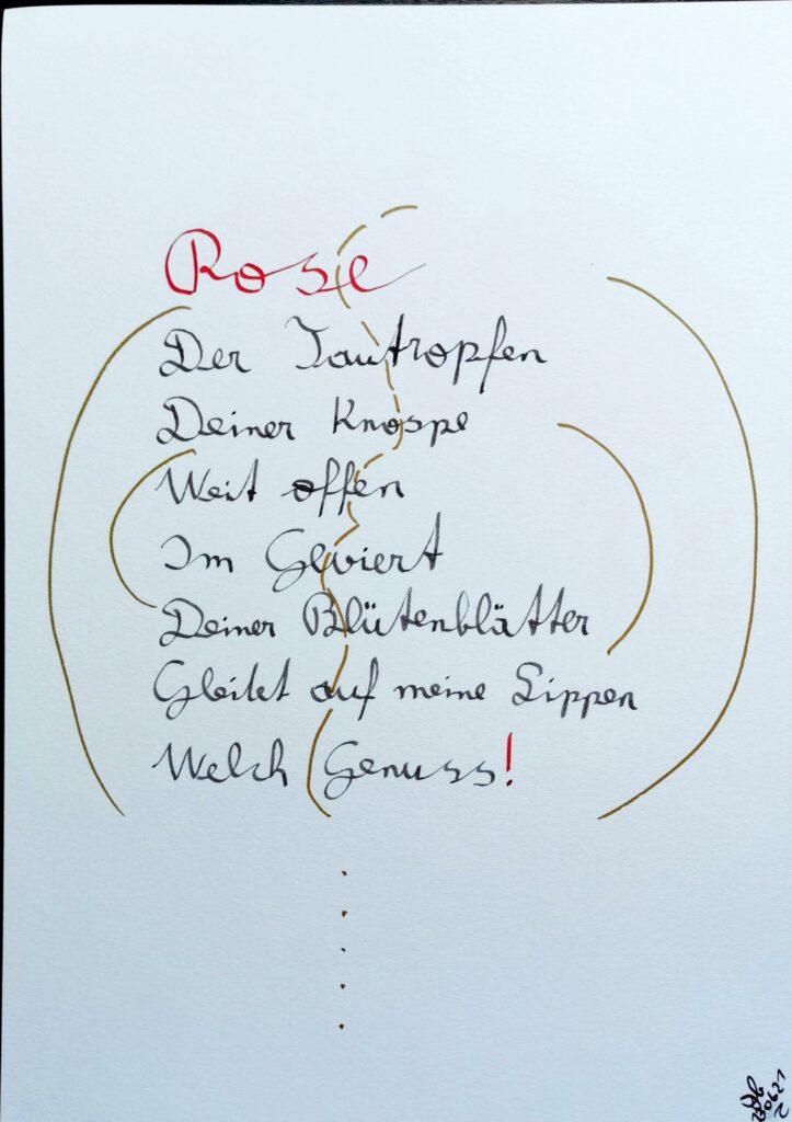 #39Plus3Poems - Rose - handschriftlich