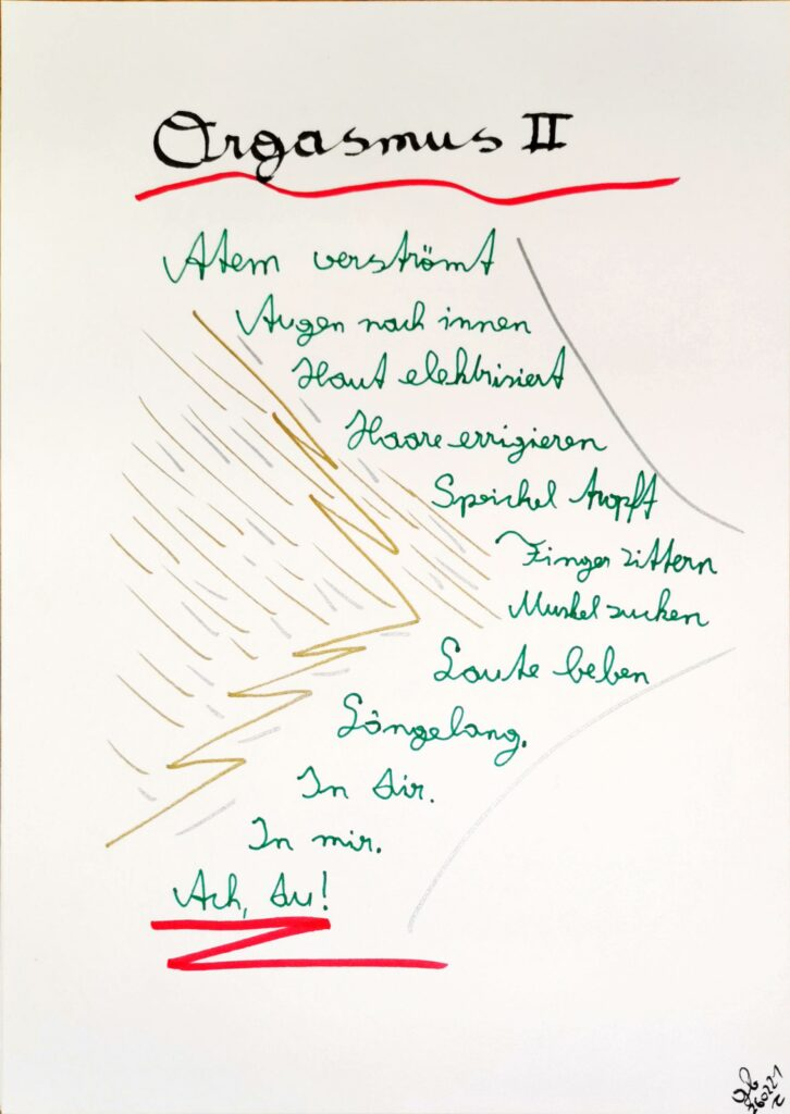 #39Plus3Poems - Orgasmus II - handschriftlich